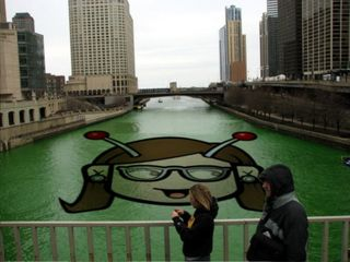 St patricks day river image