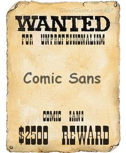Comic sans wanted poster