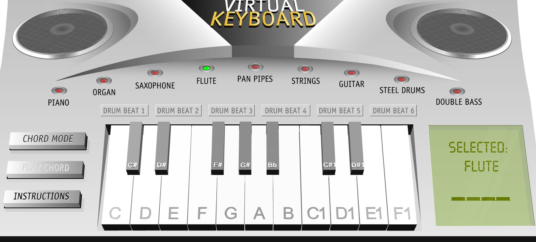 Virtual Piano for students: Great for Touch Screens
