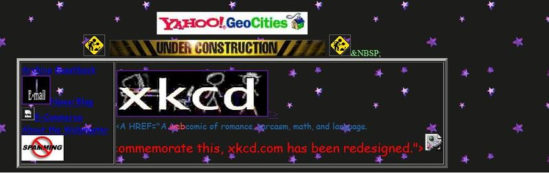 Xkcd geocities redesign 102609