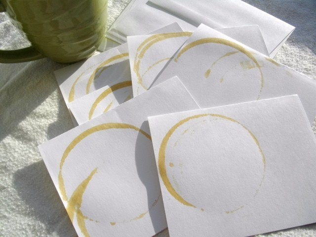 Coffee stained note paper