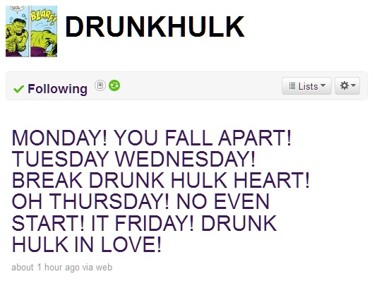 Drunk Hulk sings Th